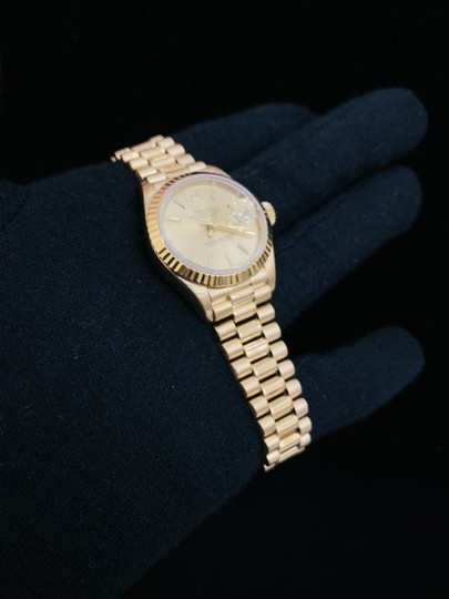 Rolex Ladies Presidential Datejust 18k Gold Watch Image 10