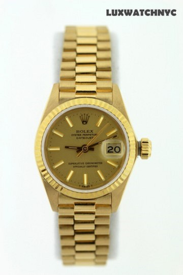 Rolex Ladies Presidential Datejust 18k Gold Watch Image 2
