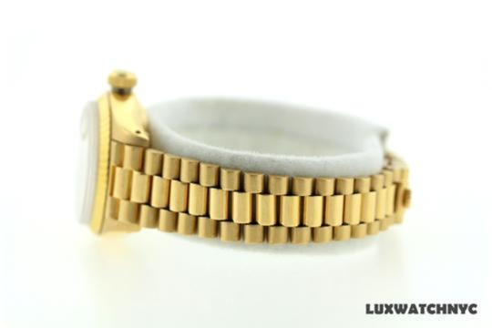 Rolex Ladies Presidential Datejust 18k Gold Watch Image 3