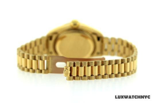 Rolex Ladies Presidential Datejust 18k Gold Watch Image 4