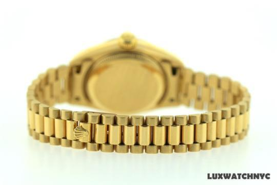 Rolex Ladies Presidential Datejust 18k Gold Watch Image 5