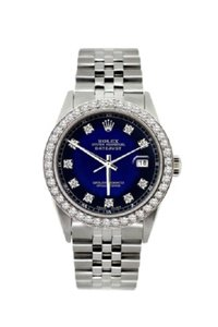Rolex Men's Datejust S/S Diamond with Box & Appraisal Watch