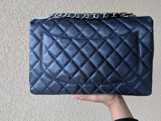 Chanel Single Flap Jumbo Caviar Quilted Jumbo Shoulder Bag Image 3
