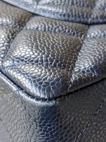 Chanel Single Flap Jumbo Caviar Quilted Jumbo Shoulder Bag Image 5