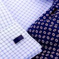 Other Navy Blue High Quality Detail Cufflinks Image 1