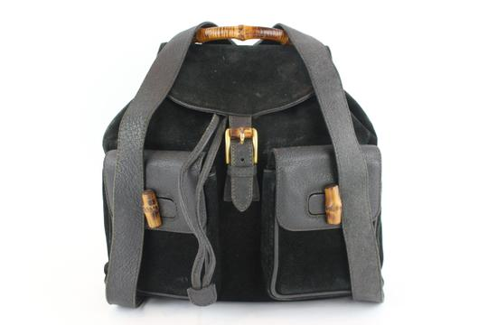 Preload https://img-static.tradesy.com/item/24442416/gucci-2gz1129-black-suede-leather-backpack-0-0-540-540.jpg