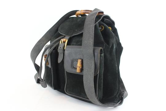 Gucci Book School Bamboo Suede Backpack Image 1