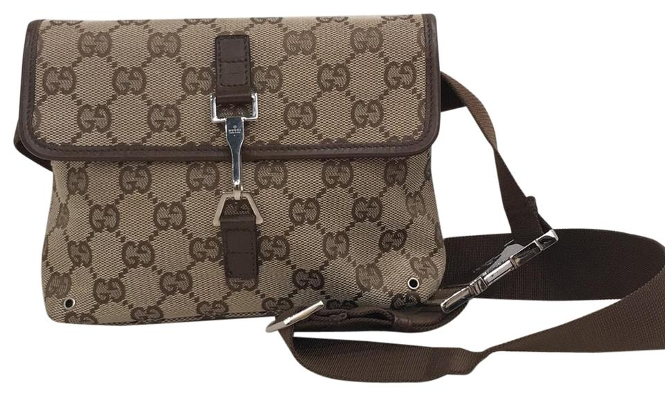 446133a7f Gucci Bumbag Near New Gg Bum Fanny Pack 6842 Brown Canvas Weekend/Travel Bag