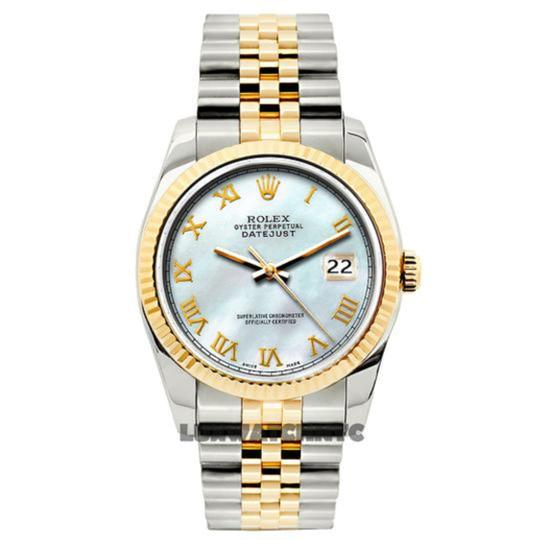 Rolex Ladies Datejust Gold S/S with Box & Appraisal Watch Image 1