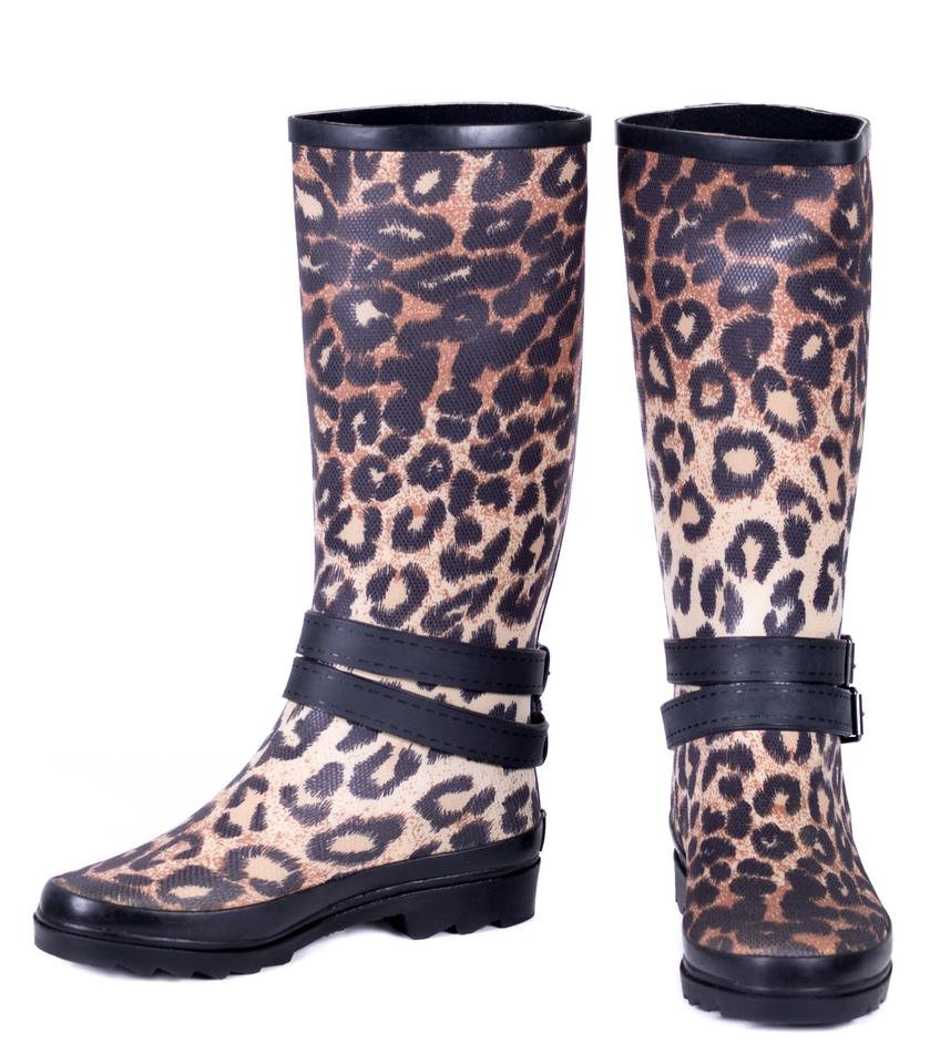 d96398471534 Forever Young Leopard Women Tall Rainboots #1900 Boots/Booties Size ...