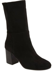 Eileen Fisher Leather Partial Side Zip Minimalist Heel Dress Up Or Down Black Boots