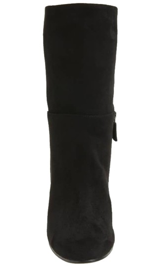 Eileen Fisher Leather Partial Side Zip Minimalist Heel Dress Up Or Down Black Boots Image 2
