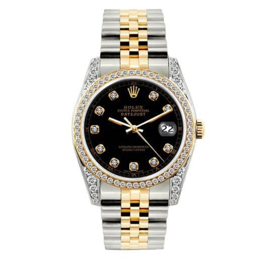 Preload https://img-static.tradesy.com/item/24442620/rolex-gold-and-stainless-steel-25ct-36mm-datejust-2-tone-diamond-with-box-appraisal-watch-0-0-540-540.jpg