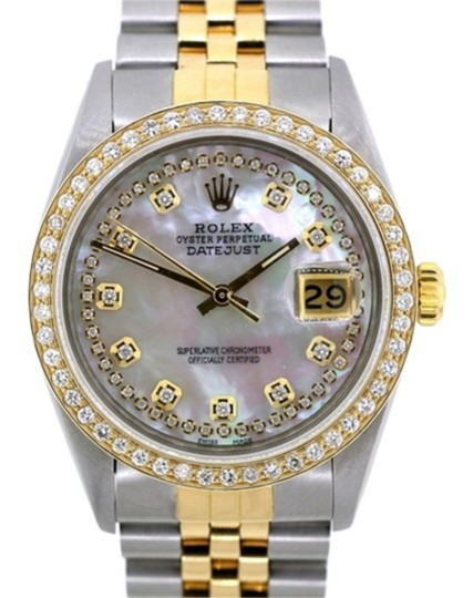 Rolex 1.5ct 36mm Men's Datejust 2-tone W/ Box & Appraisal Watch Image 1