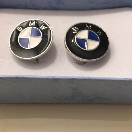 Other Men's Blue And White Enamel Car Cufflinks Image 2