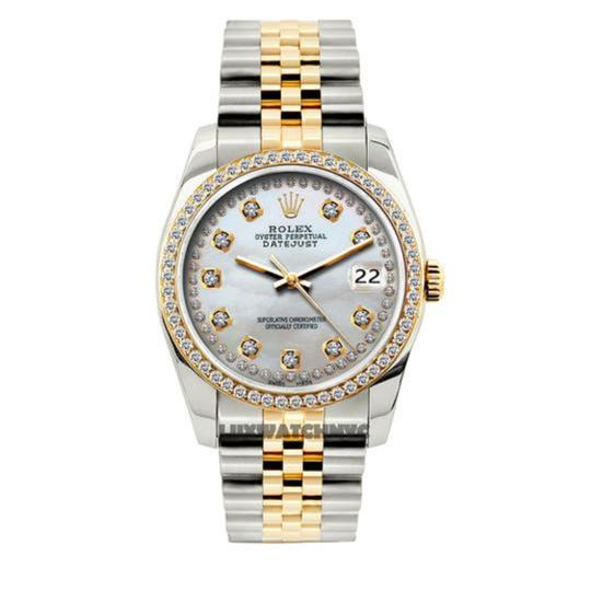 Preload https://img-static.tradesy.com/item/24442646/rolex-white-mother-of-pearl-2ct-36mm-men-s-datejust-2-tone-w-box-and-appraisa-watch-0-0-540-540.jpg