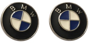 Other Men's Blue And White Enamel Car Cufflinks