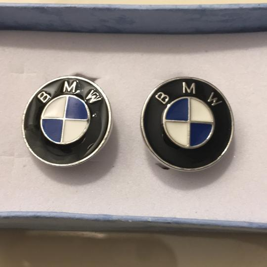 Other Men's Blue And White Enamel Car Cufflinks Image 1