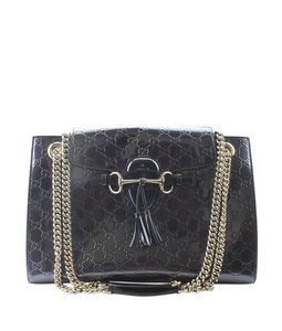 Gucci Patent Leather Pre-owned Italy Shoulder Bag