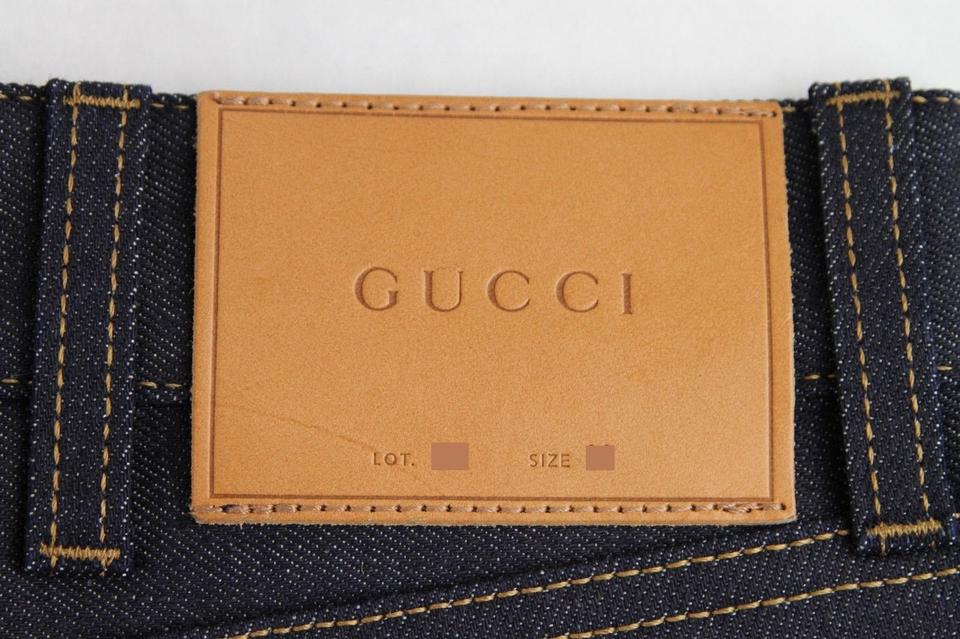 a23e5711912a Gucci Dark Blue Men's Stretch Denim Jeans Pant Us 32 408636 4100 Groomsman  Gift Image 10. 1234567891011