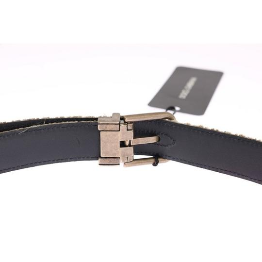 Dolce&Gabbana Beige / Gold D11027-1 Linen Leather Belt (100 Cm / 40 Inches) Groomsman Gift Image 3