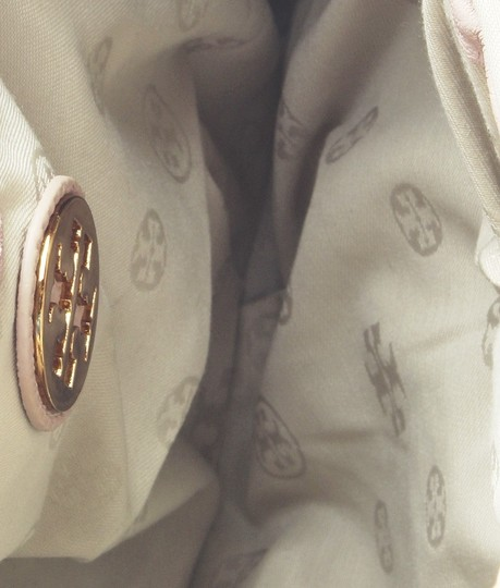 Tory Burch Leather Gold-tone Xnylon China Satchel in Pink Image 8