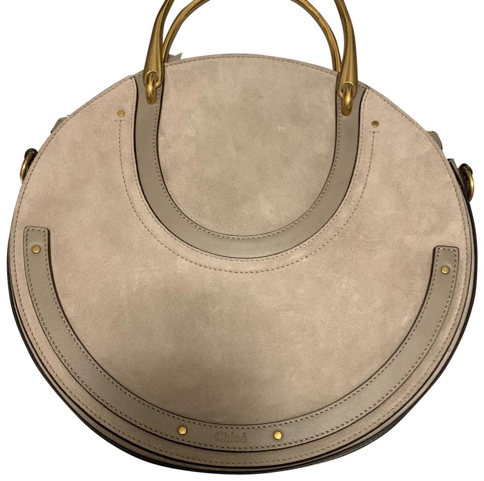 ae08a36dcb86 Chloé Pixie Medium Motty Grey Leather   Suede Shoulder Bag - Tradesy
