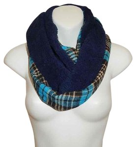 Boutique Double Sided Plaid & Faux Sherpa Infinity Scarf