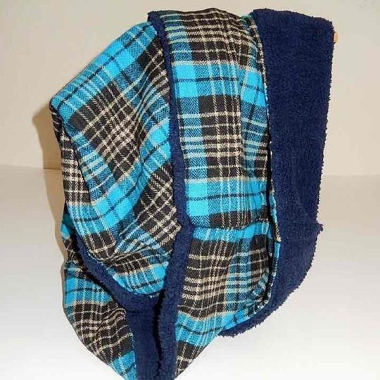Boutique Double Sided Plaid & Faux Sherpa Infinity Scarf Image 1
