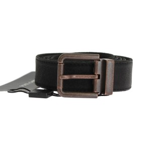 Dolce&Gabbana Black D10350-1 Leather Bronze Buckle Belt (115 Cm / 46 Inches) Groomsman Gift