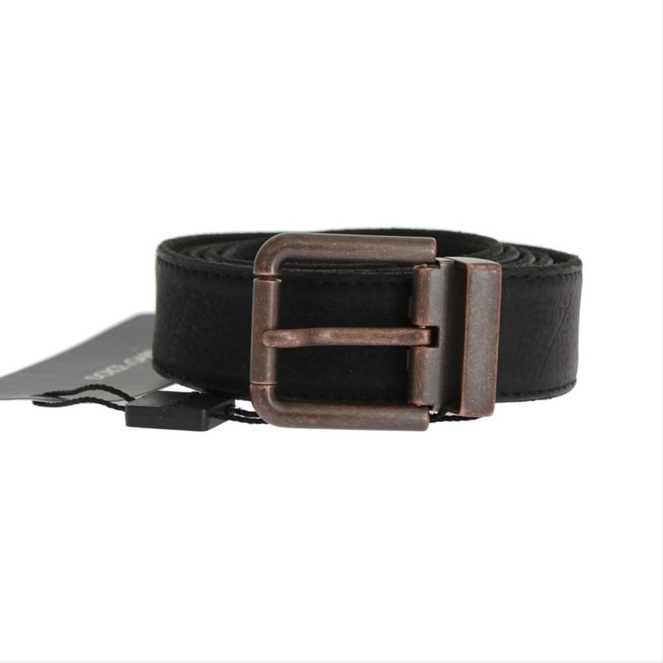 dcd6583f5089 Dolce Gabbana Black D10350-1 Leather Bronze Buckle Belt (115 Cm   46  Inches) ...