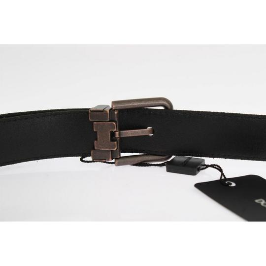 Dolce&Gabbana Black D10350-1 Leather Bronze Buckle Belt (115 Cm / 46 Inches) Groomsman Gift Image 3