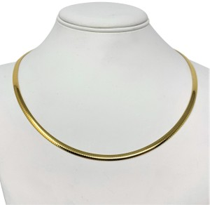 """Aurafin 10k Solid Yellow Gold Vintage Aurafin Omega Link Chain Necklace 20"""""""