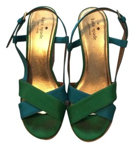 Kate Spade Blue and green Sandals