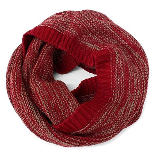 Boutique Chunky Marled Yarn Knitted Infinity Scarf Image 3