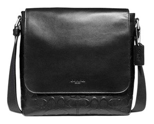 607ffb027b0 Added to Shopping Bag. Coach Black Messenger Bag. Coach Men s Charles Small  Signature Black Leather ...