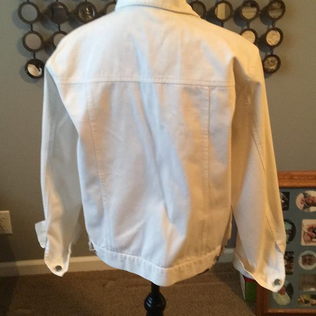 Chico's white Womens Jean Jacket Image 1