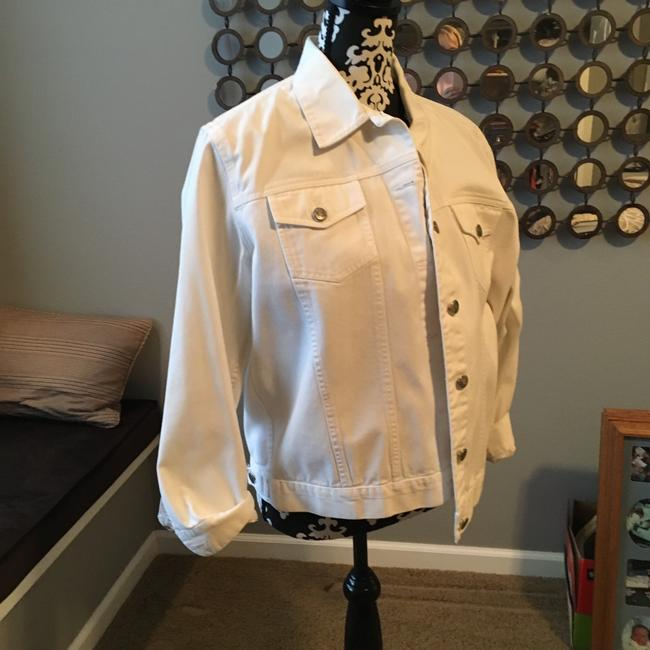 Chico's white Womens Jean Jacket Image 4