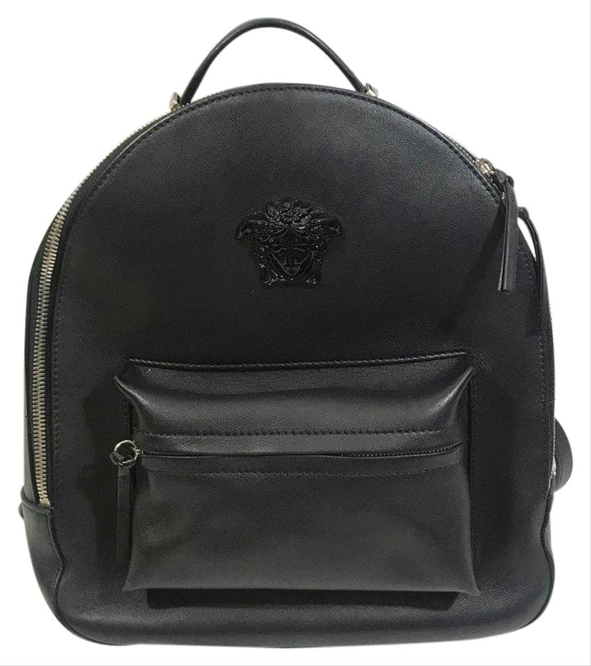 a69181c4a5 Versace Medusa Black Leather Backpack - Tradesy