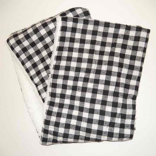Boutique Double Sided Checker & Faux Sherpa Infinity Scarf Image 2