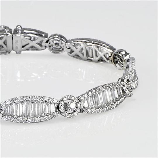 Sea Wave Diamonds Art Deco Style Diamond Tennis Bracelet Image 2