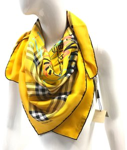 Burberry Scribble Archive Vintage Print Silk Scarf