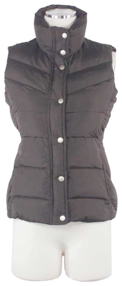68bbe7762 J.Crew Brown XS Fitted Down Puffer Drawstring Snap Buttons Espresso Vest  Size 2 (XS) 52% off retail