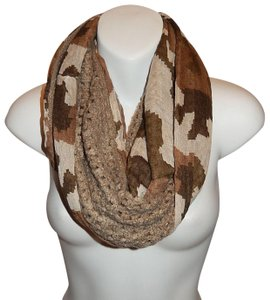 Boutique Semi Knit Camouflage Print Infinity Scarf