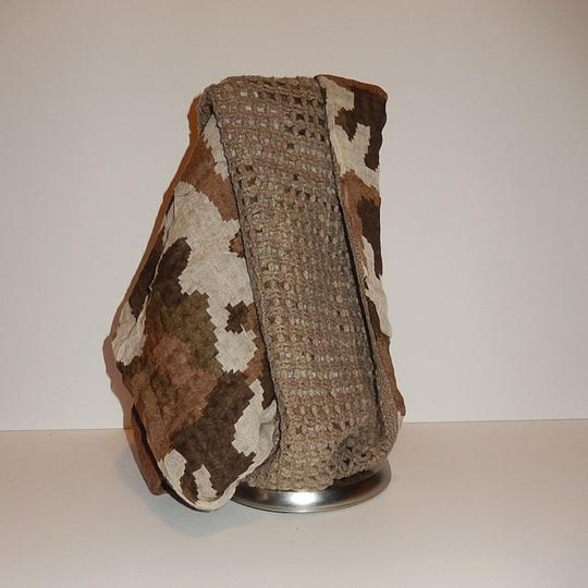 Boutique Semi Knit Camouflage Print Infinity Scarf Image 1