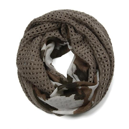 Boutique Semi Knit Camouflage Print Infinity Scarf Image 3