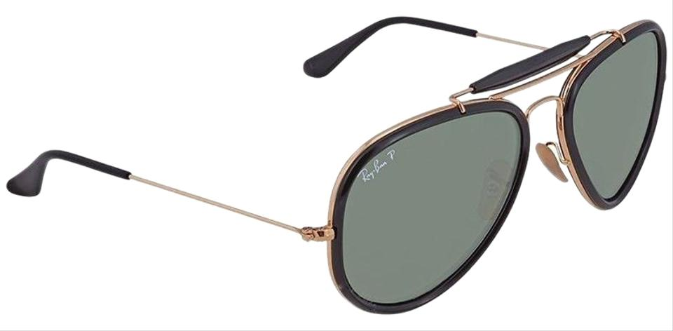 09465dcfa42 Ray-Ban Outdoorsman Reloaded Rose Gold Black Frame   Green Lens Rb3428  W3376 Aviator Pilot Style Unisex Sunglasses