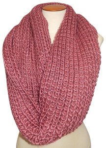 Boutique Rose Chunky Solid Rib Knit Infinity Scarf