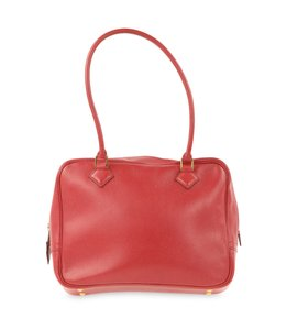 Hermès Leather Satchel in Red