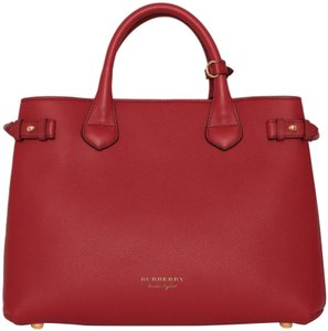 Burberry London Satchel in russet red